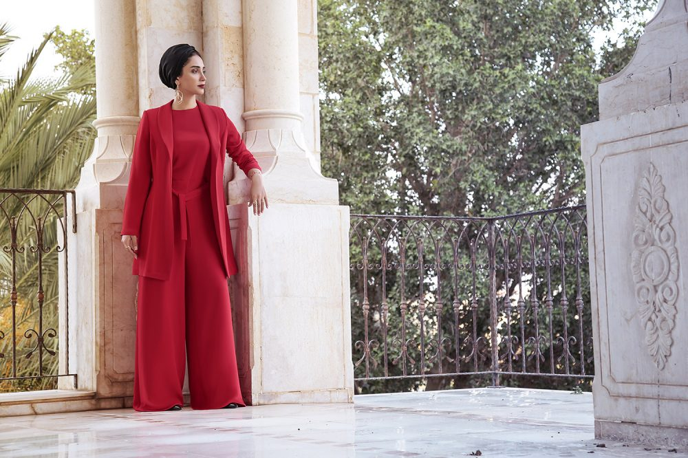 redlong dress
